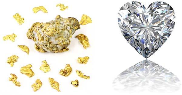 penggabungan emas dan berlian menjadi perhiasan
