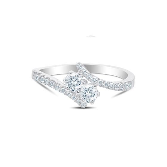 DUAL STONE Diamond Ladies Ring CWF0986